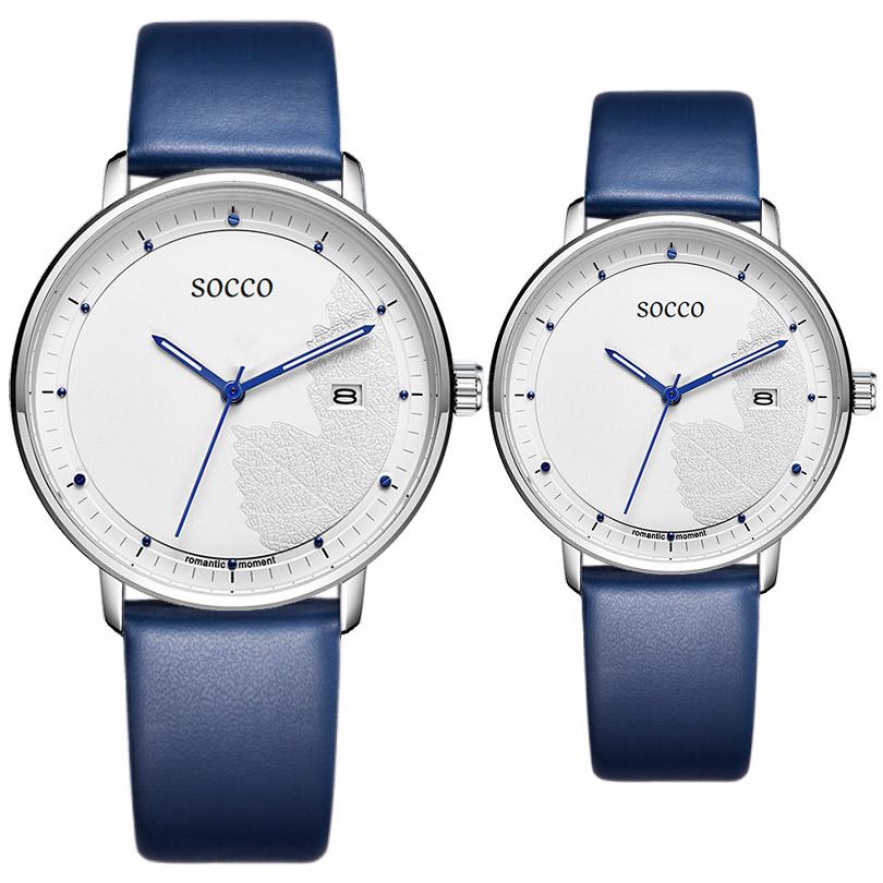 SOCCO爱情手表 罗曼蒂克情侣手表 送女友送男友送爱人